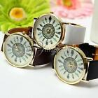 Geneva Vogue Lady Dress Vintage Feather Dial Leather Band Quartz Wrist Watch HOT