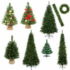 Luxury Traditional Green Christmas Trees - Table Top & 2M - Plain & Decorated