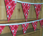 Brand New Red CHRISTMAS CHARACTER Double Sided Bunting - large or small