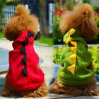 New Dog Cat Dinosaur Coat Clothes Winter Jacket Halloween Costume Hooide Apparel
