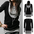 Fashion Women Long Sleeve Tops Hoodie Womens Hooded Jacket Sweatshirt Tee-shirt