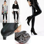 New Thick Warm Fleece Lined Fur Winter Tight Pencil Leggings Sexy Pants Black