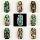F1768 Carved indian agate kwan-yin pendant bead