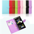 Hottest New Leather Wallet Pouch Flip Case Cover For BlackBerry Z30 Classic