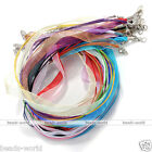 Organza Voile String Ribbon Cord Necklace Lobster Clasp Jewelry Making DIY Gift