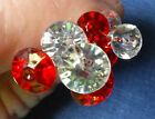 Diamond Shaped Pins (Diamante) Crystal Clear or Red - Large or Small Heads