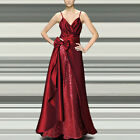 SALE Bow Sequin Bridesmaid Wedding Party Long Swing Evening Maxi Dress Prom Gown
