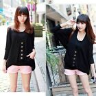 Hot Fashion Women New Style Top Oversized Batwing Coat Cardigan Knit Sweater E