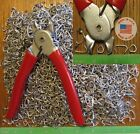 """Hog Rings Ringer Pliers  2500pcs 1/2"""" Galv Netting fences cage Upholstery BLUNT"""