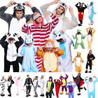 Winter Cartoon Unisex Fleece Onesies Kigurumi Animal Pajamas Costume Sleepwear