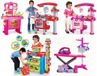 PINK RED CHILDRENS KIDS KITCHEN PLAYSET PRETEND COOKING COOKERY ROLE PLAY SET
