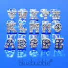FUNKY INITIAL BOYS MENS SINGLE EARRING DIAMANTE RHINESTONE COOL RETRO BLING FUN