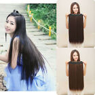 Long Straight Womens Lady One Piece 5 Clips in Hair Wig Wigs Party SBU