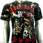 Survivor T-Shirt Biker Rock Skull Wanted Tattoo S118 Sz M L XL XXL 3XL mma Studs