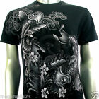 Artful Couture T-Shirt Tattoo Rock Biker AB71 Sz M L XL XXL Koi Fish Japanese