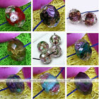 10pcs Faceted Murano Lampwork Glass Foil Flower Loose Beads Jewelry Making DIY