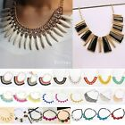 New Fashion Geometry Pendant Bib Statement Style Necklace Chocker Chain Jewelry