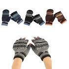 1pair Thermal Insulation Fingerless Texting Gloves For Mitten Cover GFY