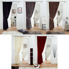 "Fully Lined Velvet Door Curtain Pencil Pleat Deep Pile Polyester Panel 66"" x 84"""