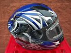ZOX THUNDER WITH ELECTRIC SNOW SHIELD PREMIUM SNOWMOBILE HELMET BLUE / BLACK