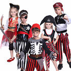 Childs Kids Halloween Costume Boys Girls Pirate Zombie Fancy Dress