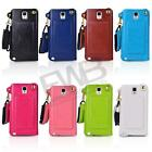 Ultra Thin Credit Card Holder Leather Pouch case Neck Strap For Samsung Note 3 &