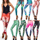 Stretchy Women's Trendy Cosmic Galaxy Space Star War Rock Tights Leggings Pants