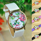 1PC Fashion Women Leather Rose Flower Watch Quartz Watches Gift Hottest