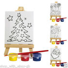 Childrens PAINTING Picture Easel Art Set - CHRISTMAS Craft Kit Stocking Filler
