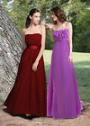 Donna Bella Floaty Strapless Bridesmaid Wedding Party Prom Maxi Evening Dress