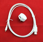 OEM Nokia AC-16U 5V-1A Home Wall Adapter + 6 Ft USB Charger Data Cable For Lumia