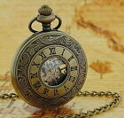 Jakob Strauss Antique Vintage Style Silver Gold Winding Pocket Watch xmas Gift