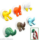 Fashion DIY Animal Tails Baby Towel Bathroom Suction Tail Hooks Hangers Suckers
