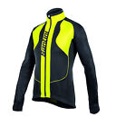 Rebel Cycling Windproof Jacket in Black/Yellow Made in Italy by Santini