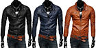 New Men's Coat Jacket Casual Short Stand Collar Slim Leather High Quality Hot