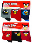 Boy's Pack of 3 Pair Angry Birds Ankle Socks Shoe Sizes 6 to 4½  (EU 23-37)  NEW