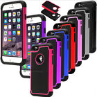 "New Case Cover For iPhone 6 4.7"" 5.5"" Rugged Rubber Matte Hard Shockproof Colors"