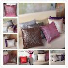Solid Color Sparkling Sequins Throw Pillow Case Cushion Cover Case Home Decor LG