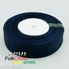 Midnight Organza Ribbons 50Yds/Roll Sew 10mm,12mm,15mm,18mm,24mm,38mm,50mm#38