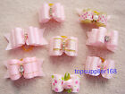 PINK new Dog bows pet Grooming hair Pet charms mix Accessories Girls cute gift