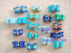 BLUE handmade Dog bows pet Grooming hair bow Pet charms mix Accessories gift