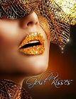 Xotic Eyes rhinestone LIPS kiss Adhesive Makeup Red Gold Costume Stage Body Glam