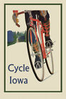 Riding Bicycle Bike Cycles Iowa Sport Travel Great Vintage Poster Repro FREE S/H