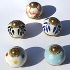 Choice of styles Small Ceramic Knob Handle Drawer cupboard porcelain pull 30mm