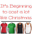 Funny Christmas T-Shirts Size Men's Ladies Women's cost like xmas Singlets tee