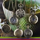 Nice Steampunk Retro Bronze Pocket Watch Quartz Clock Necklace Pendant Antique