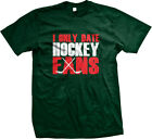 I Only Date Hockey Fans Puck Sticks Goalie Icing Skating Sports Mens T-shirt
