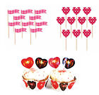 HEARTS - Cupcake & Cake Decorations (Picks & Cases)(Valentines/Anniversary/Love)