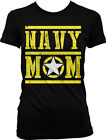 Navy Mom Mother Star Armed Forces Military Patriotic USA Pride Juniors T-shirt