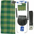 Tartanista Men's Irish Tartan 5 pc Kilt Kit - Kilt Sporran Pin Belt Flash 30-54
